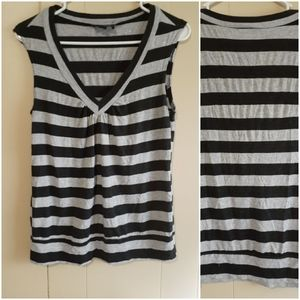 Byer California v neck striped tank top medium
